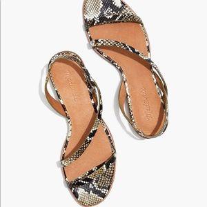 Madewell The Heidi Slingback Sandal in snake print